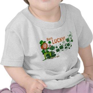 Born Lucky Baby Shirt shirt