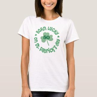 Born Lucky - Custom Birthday Age T-Shirt