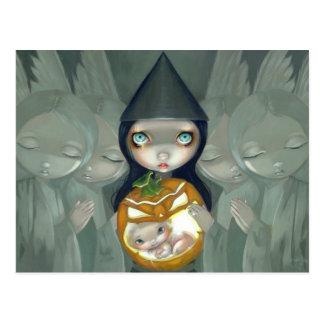 """Born of a Pumpkin"" Postcard"