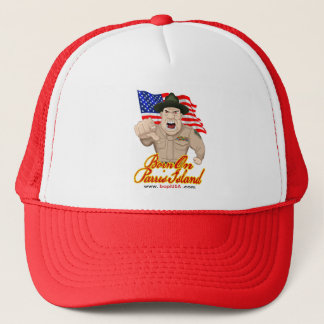 Born On Parris Island Trucker Hat (Red)