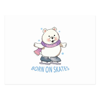 Born On Skates Postcard