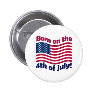 Born on the 4th of Julybutton Button