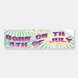 Born on the 4th of July Car Bumper Sticker