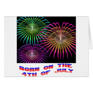 Born On The 4th Of July Cards Born on the 4th of July