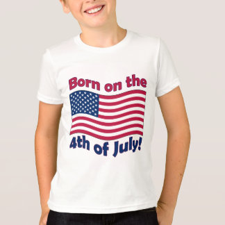 Born on the 4th of July Kids Ringer T-Shirt