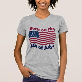 Born on the 4th of JulyLadies Petite T-Shirt