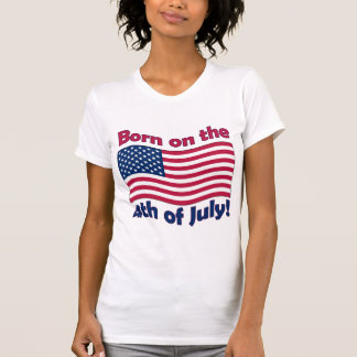 Born on the 4th of JulyLadies Tank Top (Fitted)