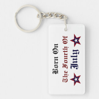 BORN ON THE FOURTH OF JULY ACRYLIC KEYCHAIN
