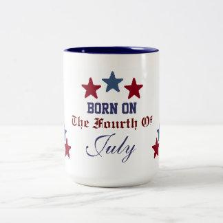 BORN ON THE FOURTH OF JULY MUG
