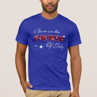 BORN ON THE FOURTH OF JULY  SHIRT