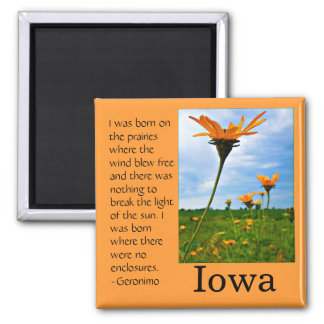 Born on the Prairie 2 Inch Square Magnet