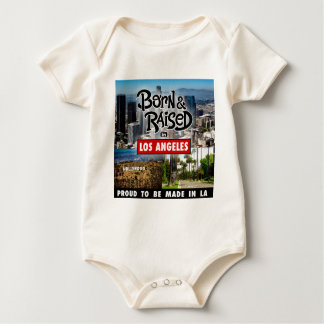 Born & Raised in Los Angeles Baby Bodysuit