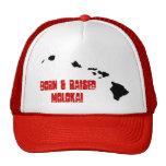 BORN & RAISED MOLOKAI TRUCKER HAT