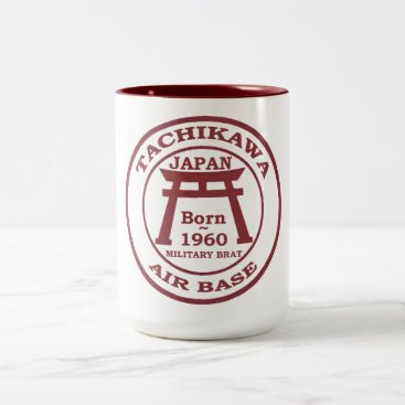 Born Tachikawa Air Base 1960 Two-Tone Coffee Mug