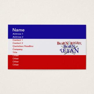 BORN TEXAN BUSINESS CARD