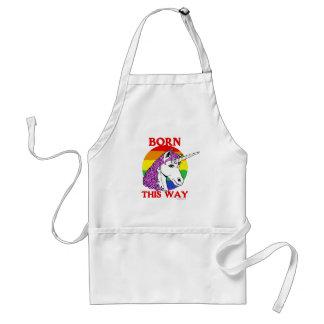 Born this way adult apron