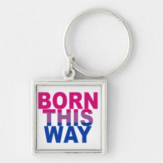 Born This Way Bi pride Keychain