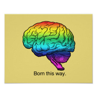 BORN THIS WAY BRAIN -.png Poster
