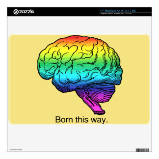 BORN THIS WAY BRAIN -.png Decals For MacBook