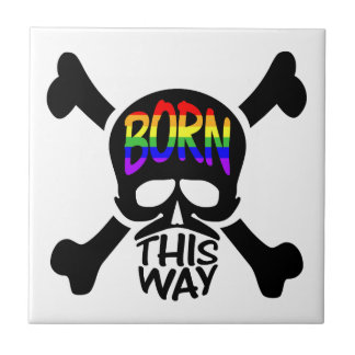 Born This Way Skull & Crossbones Tile