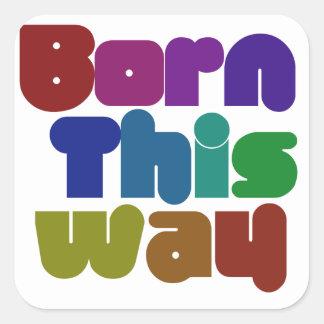 Born this way square sticker