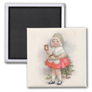 Born To Bake 2 Inch Square Magnet