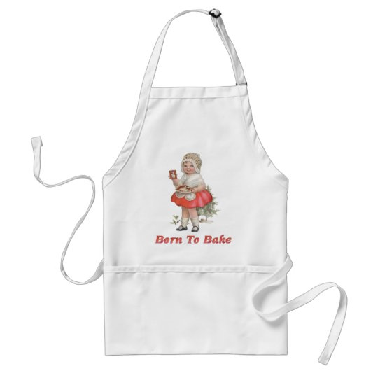 Born To Bake Adult Apron