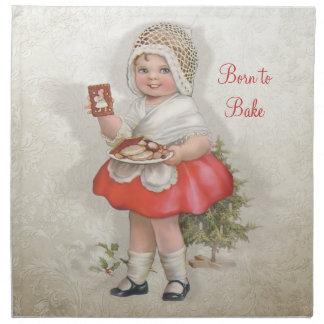 Born To Bake Girl Napkin