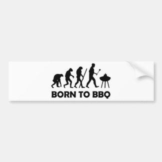 born to bbq bumper sticker