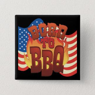Born to BBQ Button