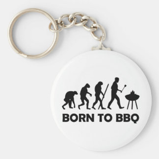 born to bbq keychain