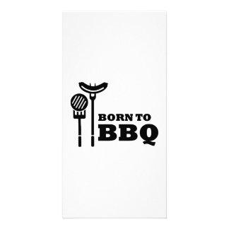 Born to BBQ Customized Photo Card