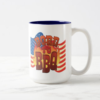 Born to BBQ Two-Tone Coffee Mug