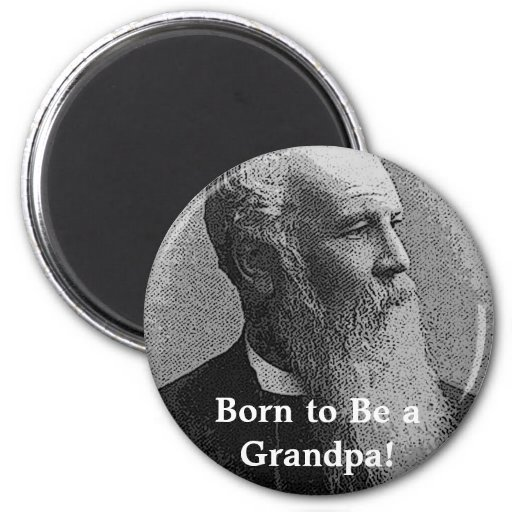 Born to Be a Grandpa! Gear 2 Inch Round Magnet