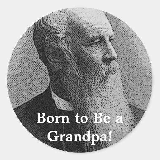 Born to Be a Grandpa! Gear Stickers