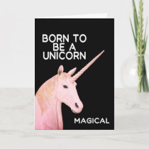 Born to Be a Unicorn Statue Head and Magical Card