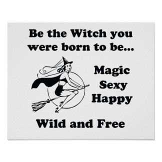 Born To Be A Witch Poster