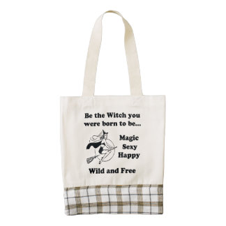 Born To Be A Witch Zazzle HEART Tote Bag
