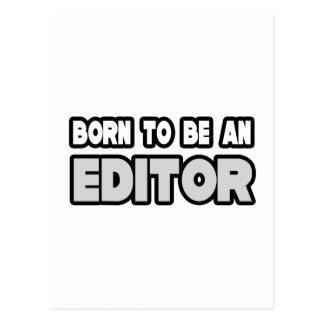 Born To Be an Editor Postcard