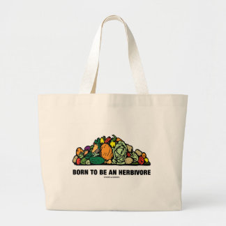 Born To Be An Herbivore (Pile Of Vegetables) Canvas Bag