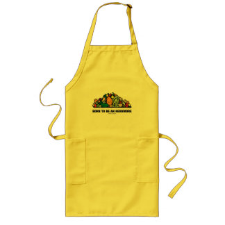 Born To Be An Herbivore (Pile Of Vegetables) Long Apron
