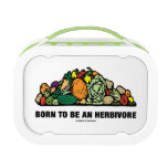 Born To Be An Herbivore (Pile Of Vegetables) Yubo Lunch Boxes