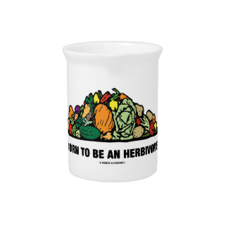 Born To Be An Herbivore (Pile Of Vegetables) Pitcher
