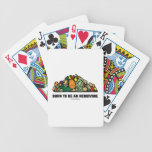 Born To Be An Herbivore (Pile Of Vegetables) Bicycle Poker Cards