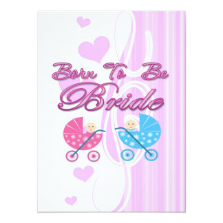 born to be bride bachelorette wedding bridal party personalized announcements