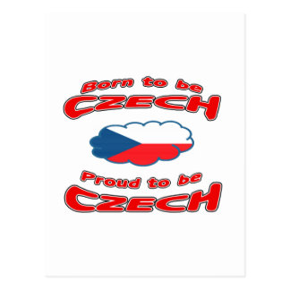 Born to be Czech, proud to be Czech Postcards