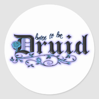 Born to be Druid Round Stickers