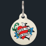 """Born To Be Loved Classic Tattoo Pet ID Tag<br><div class=""""desc"""">Those big fluffy paws and that goofy, sweet grin instantly melt the hearts of your friends and neighbors. Everyone can feel love oozing from your pet&#39;s tender heart as she pounces her lovable paws around town. Everyone feels drawn to your pet&#39;s open swagger and her oh-so-sweet love song to the...</div>"""