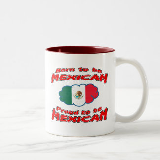Born to be Mexican, proud to be Mexican Two-Tone Coffee Mug
