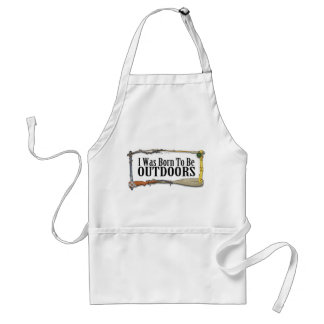 Born To Be Outdoors Apron